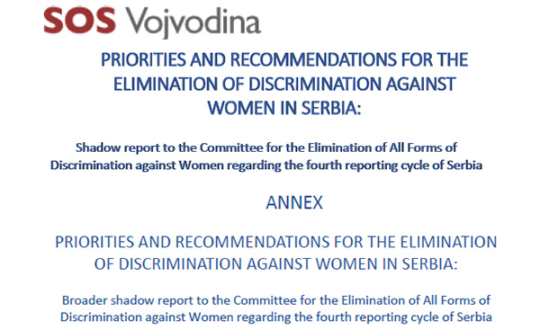 Shadow report on CEDAW Convention implementation in Serbia is available